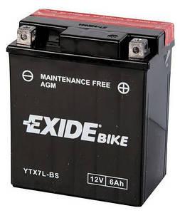 Аккумулятор сухозаряженный AGM 6Ah 100A EXIDE ETX7L-BS = YTX7L-BS
