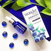 Сыворотка для лица с гиалуроновой кислотой и экстрактом черники BIOAQUA Blueberry Essence Wonder, 15мл.