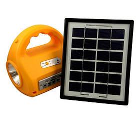 Кемпинговый фонарь с солнечной батареей и радио 7655