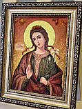 Икона из янтаря Мирослава Константинопольская 15x20 см, фото 2