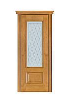 Двері Термінус №52 дуб браун, даймон (вітраж, глуха)