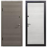 Дверь входная Министерство Дверей ПО-135 софт тёмный беж/софт беж 2050х960мм левая