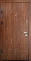 Дверь входная Министерство Дверей мдф/мдф ПК-157 дуб тёмный 2050х960мм левая