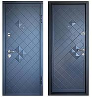 Дверь входная Министерство Дверей мдф/мдф ПО-112 Н Антрацит 2080х980мм правая