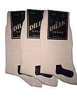 Носки мужские без шва хлопок Dilek 39-41 светло бежевые