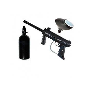 Пейнтбольное оборудование маркер Tippmann 98 с фидером и баллоном (пейнтбол, paintball, типман)