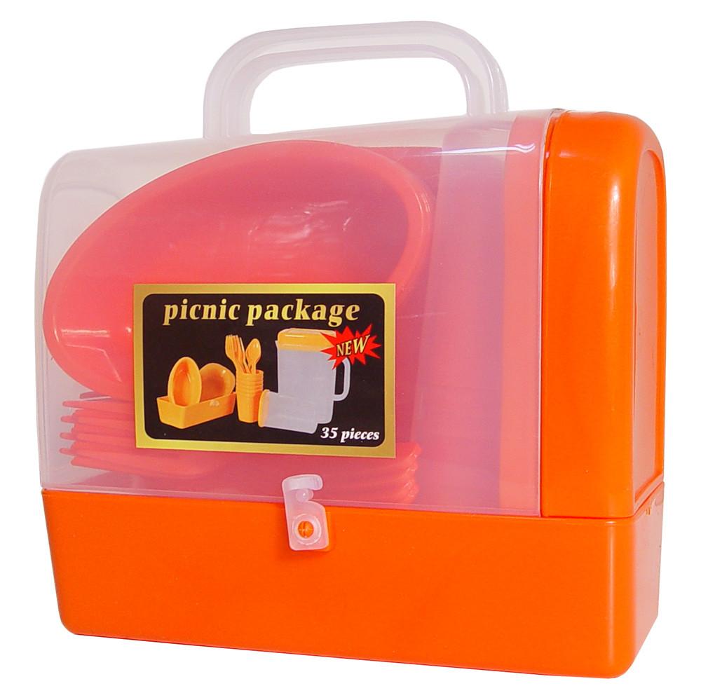 Набор для пикника 35 предметов на 6 персон R30214, красный
