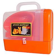 Набор для пикника 35 предметов на 6 персон R30214, красный, фото 1