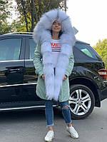 Женская парка с мехом арктической лисы тифани