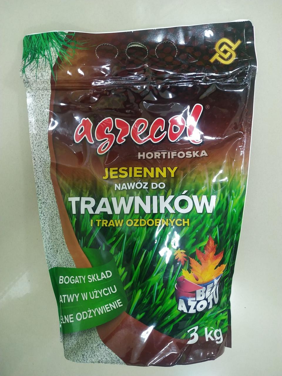 Добриво Agrecol осіннє для газонів 3 кг