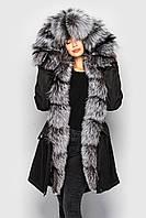 Зимняя женская куртка парка с мехом чернобурки от бренда SIFURS размер S,M,L,XL