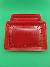 Упаковка для суші ПС-61 Червона 27,8*19,5*40 (50 шт)