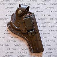 Кобура поясна для револьвера 4 формована зі скобою , коричнева