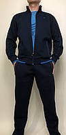 Мужской спортивнный костюм ,светло-синего цвета ,провелюренный трикотаж на флисе ,PIYERA ,Турция