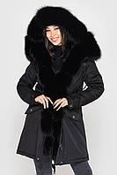 Зимняя женская куртка парка с мехом песца от бренда SIFURS размер S,M,L,XL