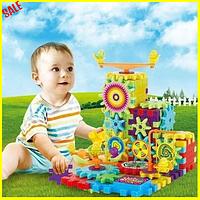 Детский 3D конструктор Funny Bricks 81 деталь, Детский развивающий конструктор, Конструктор веселые шестеренки
