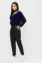 Женские укороченные брюки на высокой посадке и резинке KR-ритц, фото 2