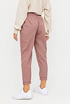Женские укороченные брюки на высокой посадке и резинке KR-ритц, фото 3