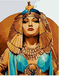 """Картина по номерам """"Клеопатра"""" Сложность: 4 (Клеопатра, царица, королева, женщина)"""