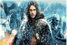 """Картина по номерам """"Игры престолов. Джон Сноу"""" Сложность: 4 (Джон Сноу, Сноу, Игра престолов)"""