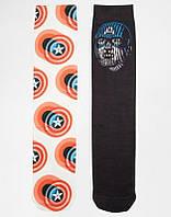 Носки Asos 2 Pack Socks With Capitan America Print