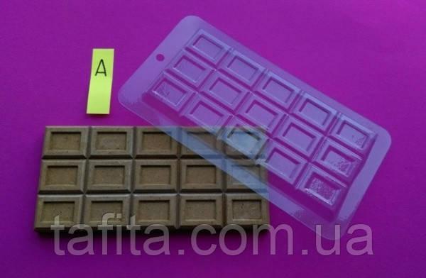 Пластиковая форма для плитки шоколада №1