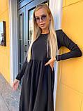 Свободное платье женское осеннее миди (Норма, Батал), фото 3