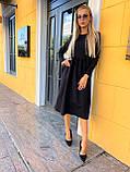Свободное платье женское осеннее миди (Норма, Батал), фото 4