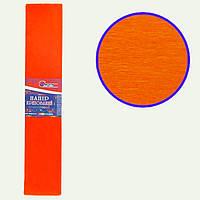 Бумага крепированная цветная 55%, 50*200 см цвет оранжевый KR55-8015 (10/1)