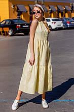 Платье женское летние стильное легкое  без рукавов длины Миди (Норма, Батал)