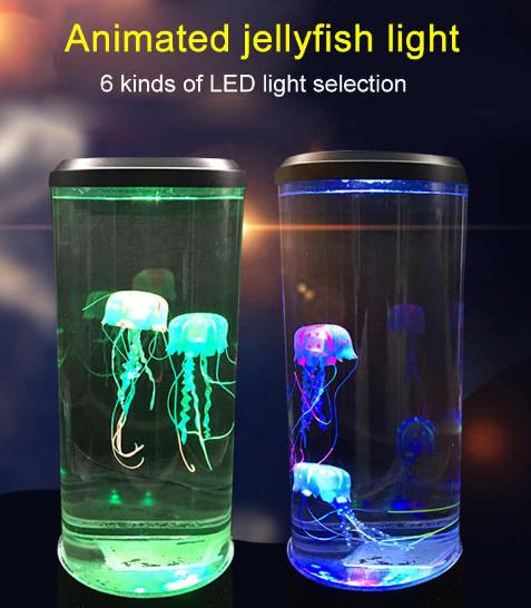 Лампа - ночник со светодиодными медузами LED Jellyfish Mood Lamp
