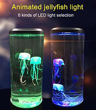 Лампа - нічник зі світлодіодними медузами LED Jellyfish Mood Lamp