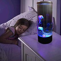 Лампа - ночник со светодиодными медузами LED Jellyfish Mood Lamp, фото 3