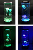 Лампа - ночник со светодиодными медузами LED Jellyfish Mood Lamp, фото 2