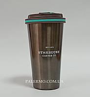 Термокружка 500 мл Starbucks Старбакс Coffee Co. термочашка термостакан темно коричневая