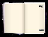 Щоденник датований 2021 MEANDER, А5, чорний, фото 2