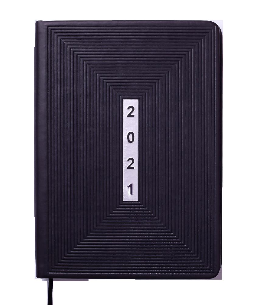 Щоденник датований 2021 MEANDER, А5, чорний