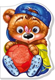 Книжка Дружні звірятка: Медвежонок (р)(60) Ранок А393013Р с объемными глазками и шерстяной вставкой