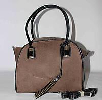 Женская сумка с кисточкой SilviaRosa, кофе с молоком