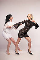 Нарядное кружевное платье (черное, белое) итальянский бренд KIANA MASSI