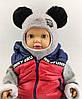 Шапка шлем детская  46 48 50 52 размер шапки ангора головные уборы детские