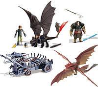"""Большой набор с беззубиком, драконы, боевая машина и фигурки """"Как приручить дракона"""" Оригинал из США"""