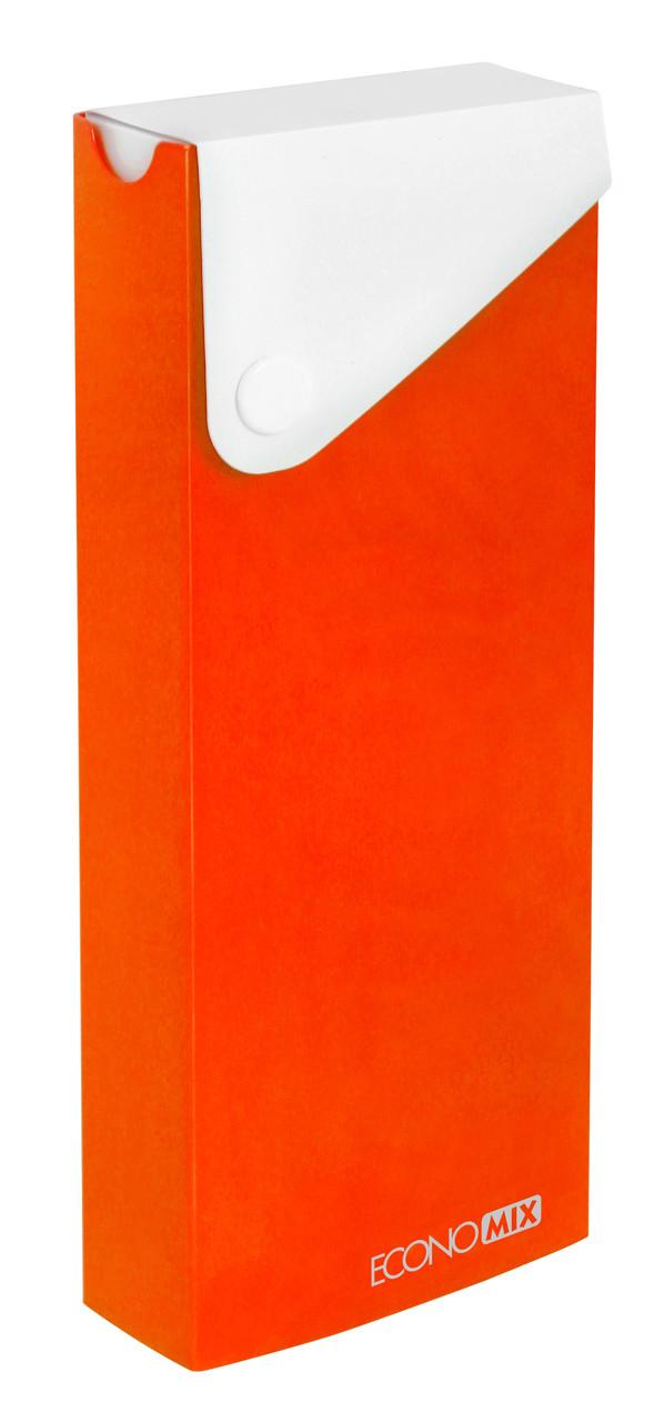 Пенал Economix E31617-06 пластиковий на кнопці помаранчевий