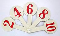 Веер-буквы Цифры, от 1 до 10 К-7375