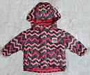 Детская зимняя куртка Зиг-Заг розовая (QuadriFoglio, Польша), фото 2