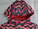 Детская зимняя куртка Зиг-Заг розовая (QuadriFoglio, Польша), фото 3