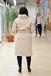 Классическое женское демисезонное пальто   бежевое Ricco Электра, фото 3