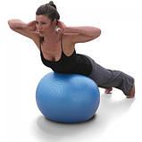 М'яч для фітнесу Фітбол Profit 65 см посилений 0276 Blue, фото 3
