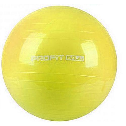 Мяч для фитнеса Фитбол Profit 65 см усиленный 0382 Yellow