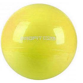 М'яч для фітнесу Фітбол Profit 65 см посилений 0382 Yellow